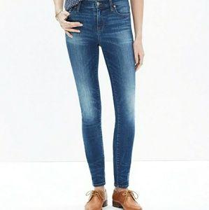 Madewell High Riser Skinny Jeans E0852 Dayton Wash